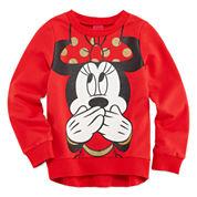 Disney Minnie Mouse Long Sleeve Sweatshirt - Big Kid Girls