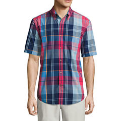 St. John's Bay Poplin Button-Front Shirt