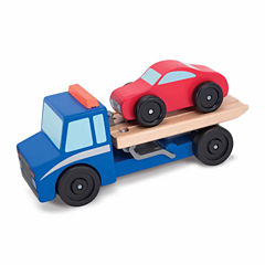 Melissa And Doug 2-pc. Flatbed Tow Truck