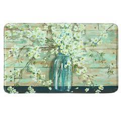 Bacova Guild Blossoms In Jar Rectangular Kitchen Mat