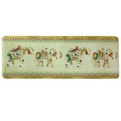 Bacova Guild Boho Elephant Rectangular Kitchen Mat