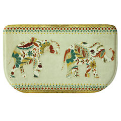 Bacova Guild Boho Elephant Wedge Kitchen Mat
