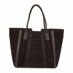 Imoshion Whipstitch Faux Suede Tote Bag