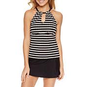 Aqua Couture Zig Zag Tankini or Solid Swim Skirt