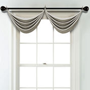 JCPenney Home Textured Blackout Grommet Unlined Waterfall Valance