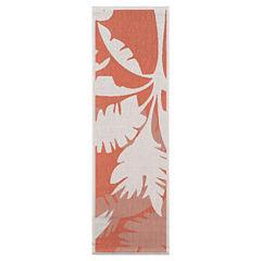 Couristan® Coastal Floral Indoor/Outdoor Rectangular Runner Rug