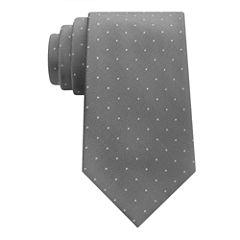 Stafford Comfort Stretch Text Dot Tie