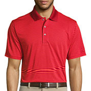 PGA Tour Short Sleeve Stripe Mesh Polo Shirt