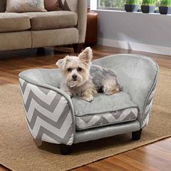 Enchanted Home Ultra Plush Chevron Snuggle Pet Sofa