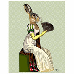 Miss Hare Canvas Wall Art