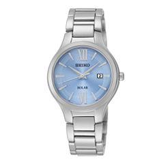 Seiko® Womens Stainless Steel Solar Bracelet Watch SUT209