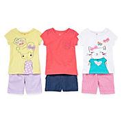 Okie Dokie® Tee or Bermuda Shorts - Toddler Girls 2t-5t
