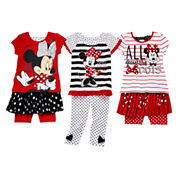Disney Apparel by Okie Dokie Minnie Mouse Bow Tee, Skort or Leggings - Toddler Girls 2t-5t