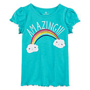 Okie Dokie Short-Sleeve Tee or Shorts - Preschool Girls 4-6x