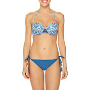 Ambrielle Push Up or Side Tie Hipster with Tassels