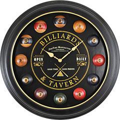 FirsTime® Billiards Wall Clock