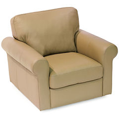 Leather Possibilities Roll-Arm Swivel Chair