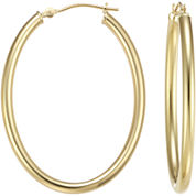 38mm 14K Gold Oval Hoop Earrings