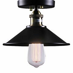 Warehouse Of Tiffany Candice 1-light Black EdisonLamp with Bulb