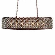 Warehouse Of Tiffany Shekinah 6-light Rusty 40-inch Edison Chandelier with Bulbs
