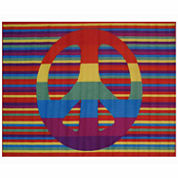 Groovy Peace Rectangle Rugs