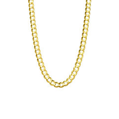 14K Yellow Gold 5.7MM Curb Necklace 24