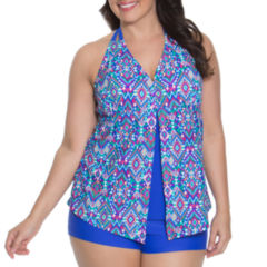 Aqua Couture Tankini Swimsuit Top-Plus