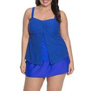 Aqua Couture Crochet Bandeau Swimsuit Top or Swim Shorts-Plus