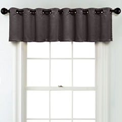 JCPenney Home Matte Satin Grommet Blackout Lined Tailored Valance