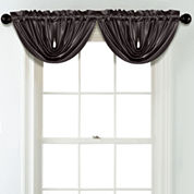 JCPenney Home Matte Satin Rod Pocket Poly-Cotton Lined Waterfall Valance