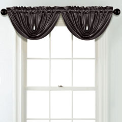 JCPenney Home Matte Satin Rod Pocket Unlined Waterfall Valance