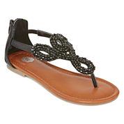 Total Girl® Bria Girls Beaded Sandals - Little Kids/Big Kids