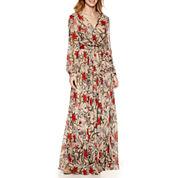 Renn Long Sleeve Wrap Maxi Dress