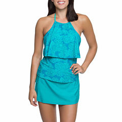 Aqua Couture Twist Halterkini or Solid Swim Shorts