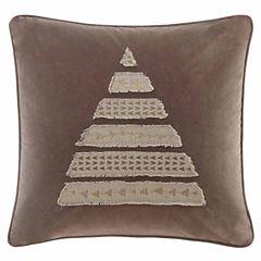 Madison Park Metallic Novelty Tree Square Throw Pillow