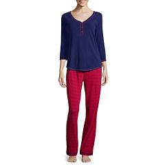 Sleep Chic® 3/4-Sleeve Knit Pajama Set