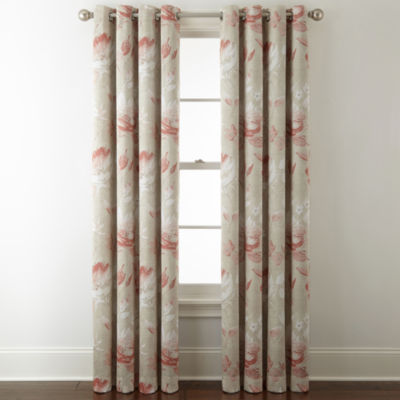 liz claiborne kathryn floral room darkening grommettop curtain panel