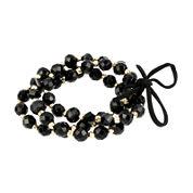 Mixit™ Black 3-Row Bead Stretch Bracelet