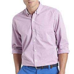 IZOD Long-Sleeve Stretch Gingham Sport Shirt