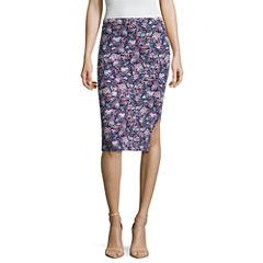 Decree Side Slit Pencil Skirt - Juniors Plus