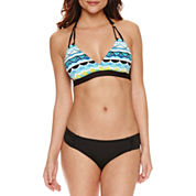 Liz Claiborne Geometric Halter Swimsuit Top
