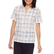 Alfred Dunner Short Sleeve Button-Front Shirt