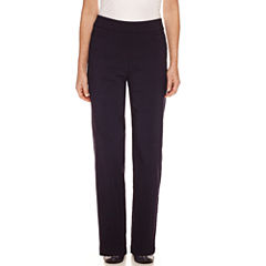 Alfred Dunner Straight Fit Woven Pull-On Pants