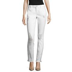 Belle + Sky Zipper Skinny Jeans