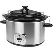 Kalorik® 8-qt. Stainless Steel Digital Slow Cooker with Locking Lid