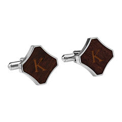 Personalized Redwood Stainless Steel Cufflinks