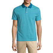 Claiborne Short Sleeve Pattern Cotton Polo Shirt