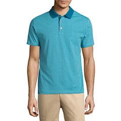 Claiborne Short Sleeve Pattern Polo Shirt
