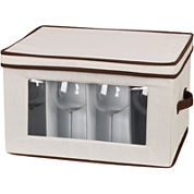 Household Essentials® Canvas Balloon Stemware Chest + Trim