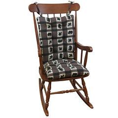 Klear Vu Animal Lodge Jumbo Universal Rocking Chair Cushions